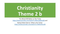 Christianity Theme 2 b  The Atheist Bill Maher on the Trinity