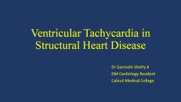 Ventricular Tachycardia in Structural Heart Disease