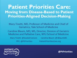 Patient Priorities Care: