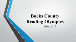 Bucks County  Reading Olympics