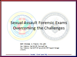 1 Sexual Assault Forensic