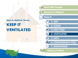 Keep it ventilated Steps to Healthier Homes