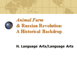 Animal Farm & Russian Revolution: