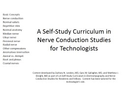 A Self-Study Curriculum in