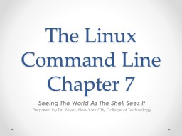 The Linux Command Line Chapter 7