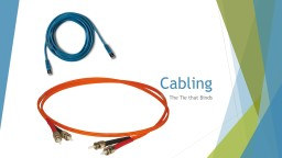 Cabling The Tie that Binds