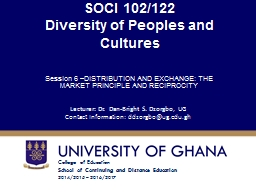 SOCI 102/122 Diversity of Peoples and Cultures