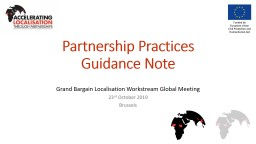 Partnership Practices Guidance Note