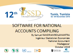 SOFTWARE FOR NATIONAL ACCOUNTS