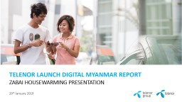 TELENOR LAUNCH DIGITAL MYANMAR REPORT