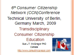 6 th  Consumer  Citizenship Network (