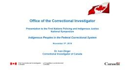 Office of the Correctional Investigator