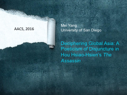 .  Mei Yang University of San Diego