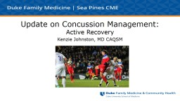 Update on Concussion Management:
