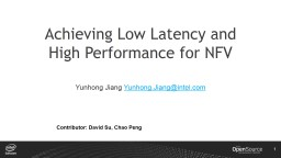 Achieve Low Latency NFV with