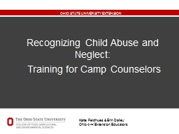 Recognizing Child Abuse and