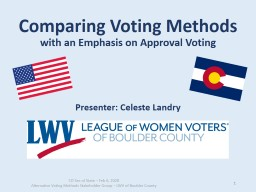 Comparing Voting Methods