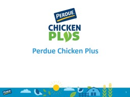Perdue Chicken Plus 1 consumer