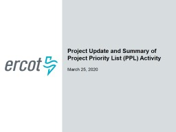 Project Update and Summary of