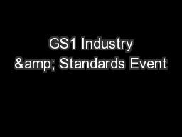 GS1 Industry & Standards Event