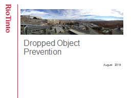 Dropped Object Prevention