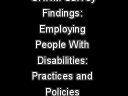 SHRM Survey Findings: Employing People With Disabilities: Practices and Policies
