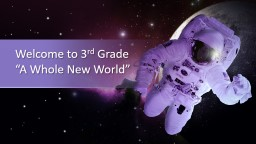 "Welcome to 3 rd  Grade  ""A Whole New World"""