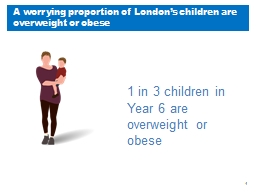 A worrying proportion of London's children are overweight or obese