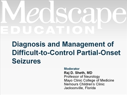 Diagnosis and Management of Difficult-to-Control Partial-Onset Seizures