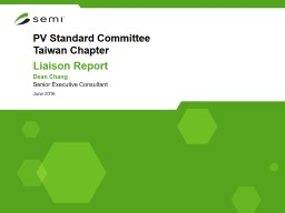 PV  Standard  Committee Taiwan Chapter