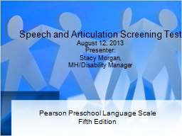 Speech and Articulation Screening Test