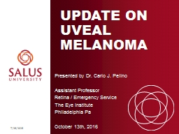 Update on Uveal Melanoma