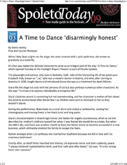 A time to dance disarmingly honest