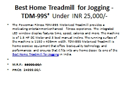 Best Home Treadmill for Jogging