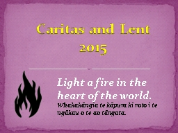 Light a fire in the heart of the world - Natural Disasters