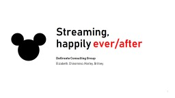 How might Disney disrupt online streaming leveraging synergies in the organization?