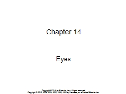 Chapter 14 Eyes Copyright © 2016 by Elsevier, Inc. All rights reserved.