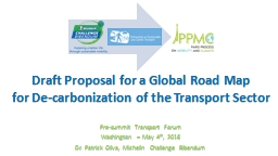 Draft  Proposal  for  a Global Road