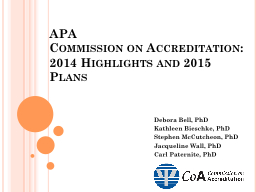 APA  Commission on Accreditation: