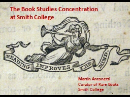 The Book Studies Concentration