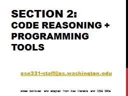 Section  2 : Code Reasoning +