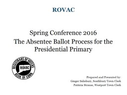 ROVAC Fall Conference 2016