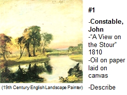 """#1 -Constable, John -""""A View on the Stour"""""""
