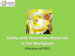 Safety with Hazardous Materials in the Workplace