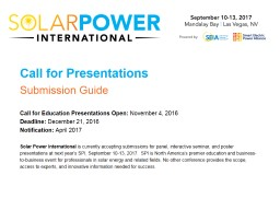 Call for Presentations Submission Guide