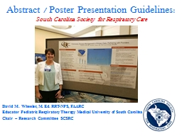 Abstract / Poster Presentation Guidelines:
