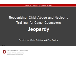Title  Slide Recognizing Child Abuse and Neglect