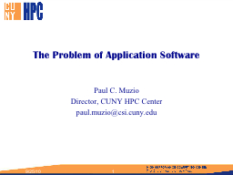 The Problem of Application Software