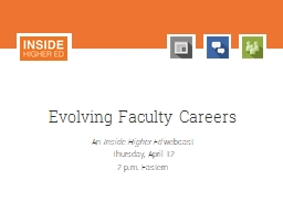 Evolving Faculty Careers