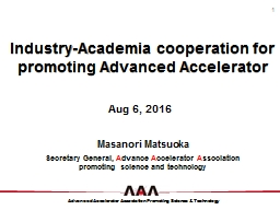 Industry-Academia cooperation for promoting Advanced Accelerator